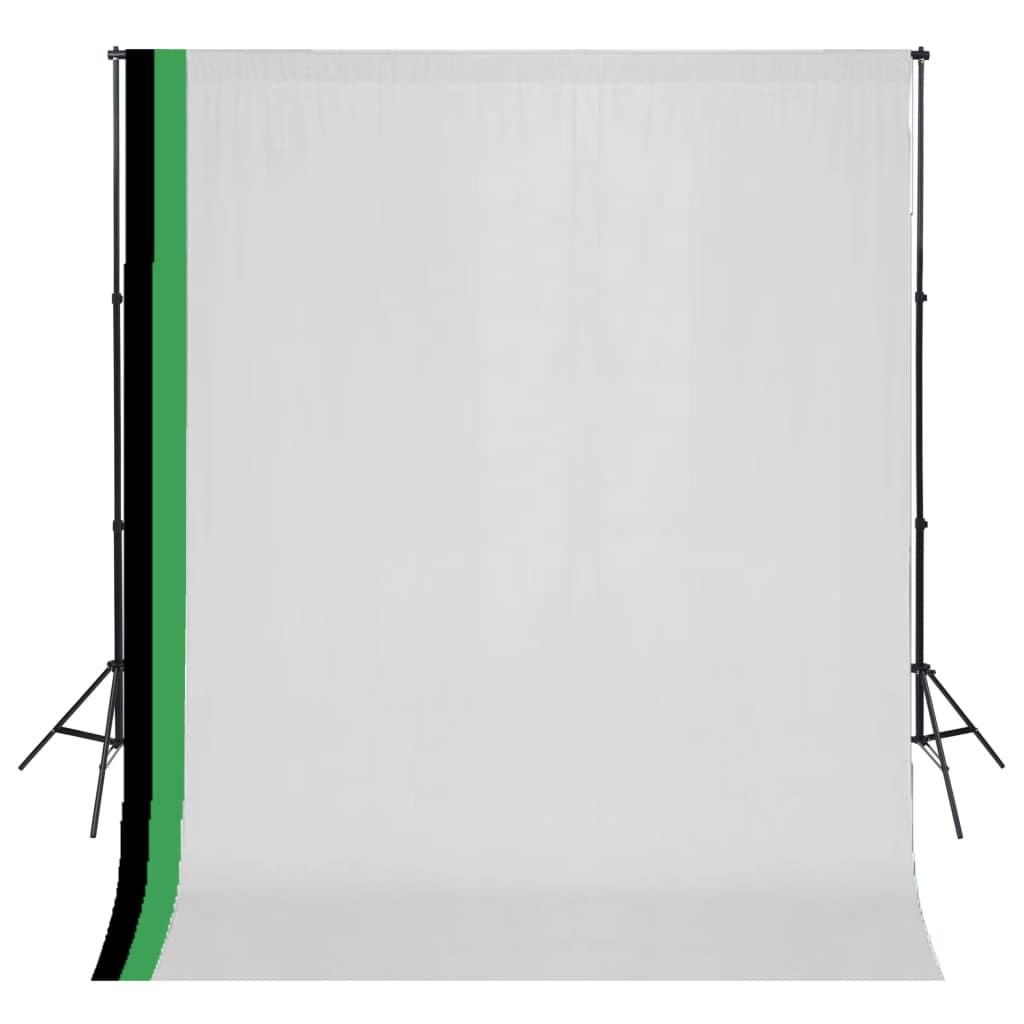 ชุดสตูดิโอถ่ายภาพพร้อมฉากหลังผ้าฝ้าย 3 ฉากปรับได้ 3x3 ม