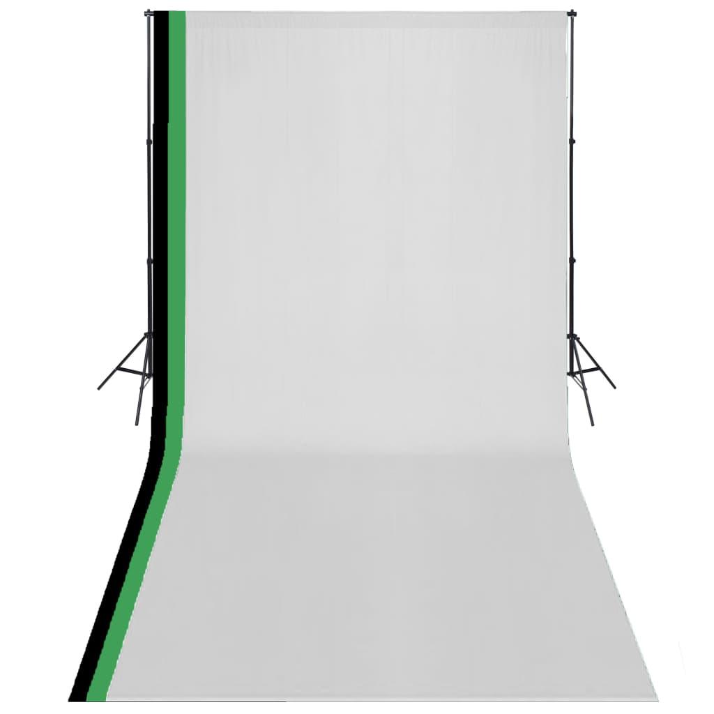 ชุดสตูดิโอถ่ายภาพพร้อมฉากหลังผ้าฝ้าย 3 ฉากปรับได้ 3x6 ม