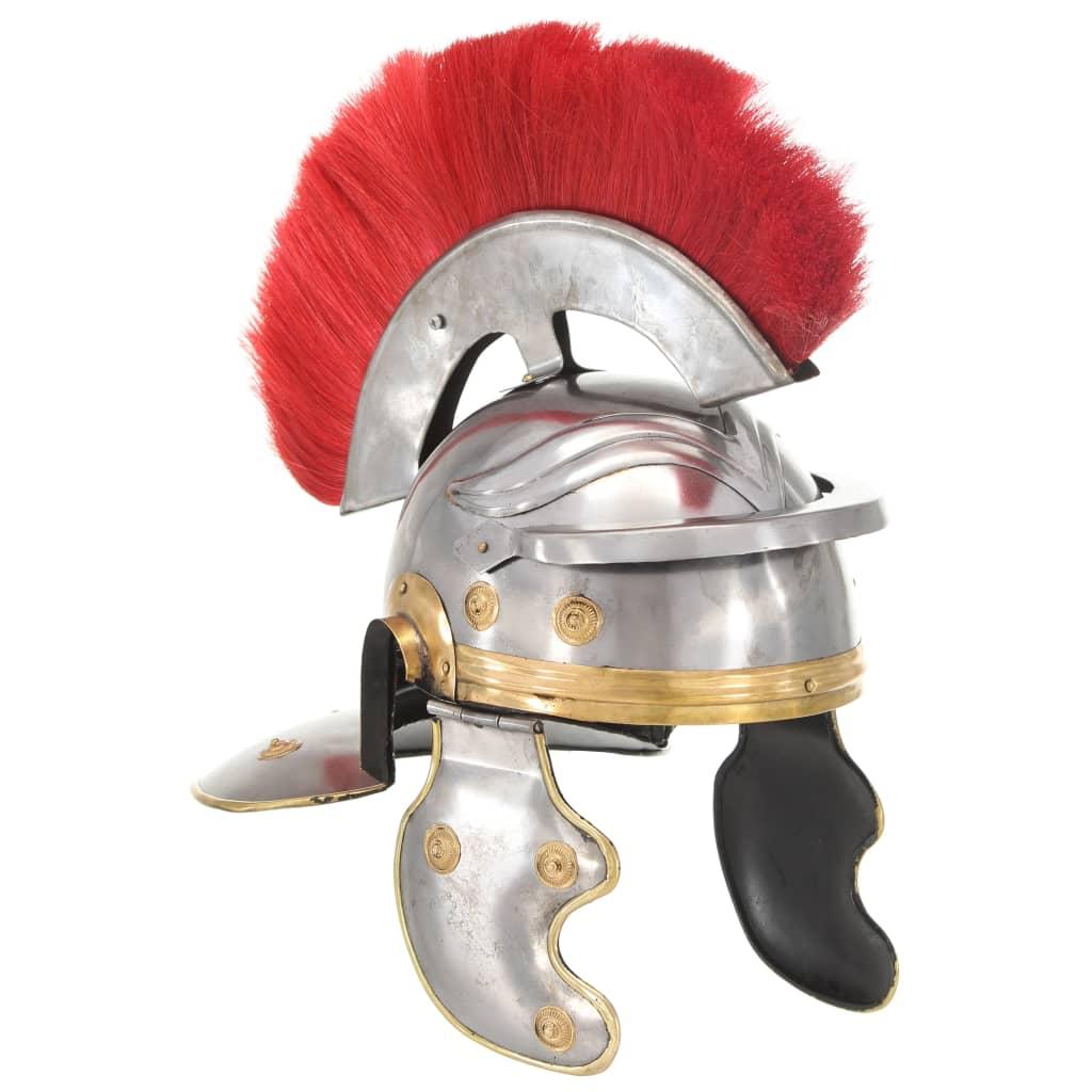 Casque de soldat romain réplique antique GN acier argenté