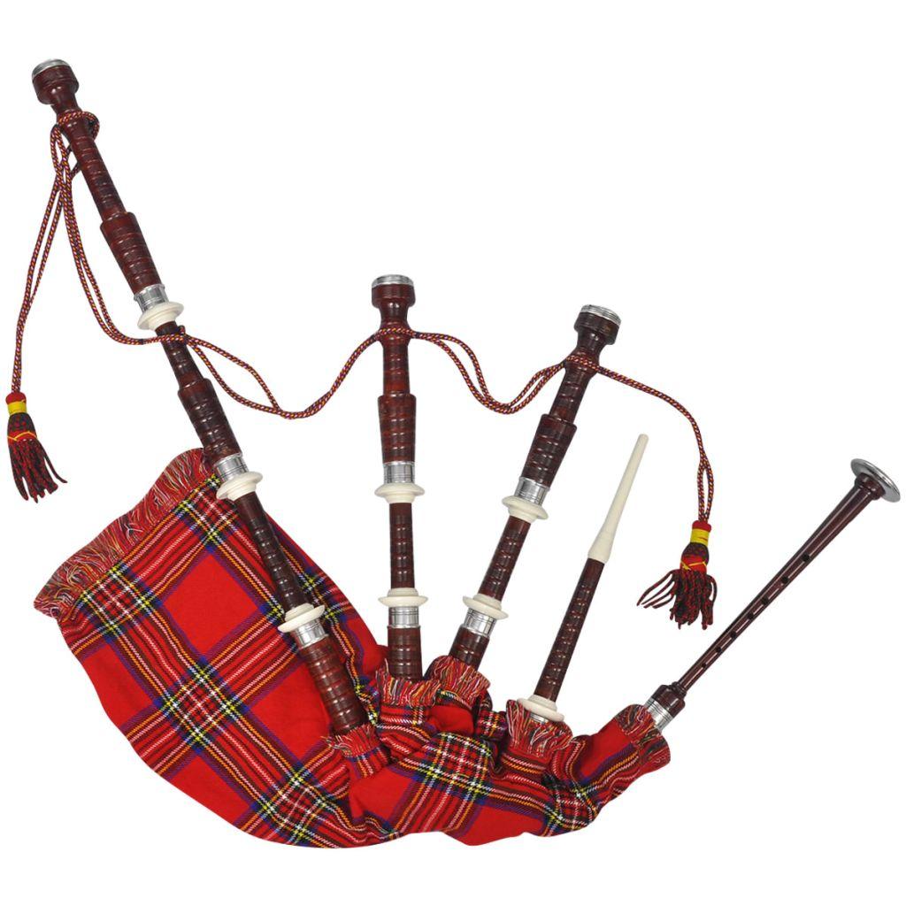 Skót Nagy Felföldi Duda Piros Királyi Steward Tartan