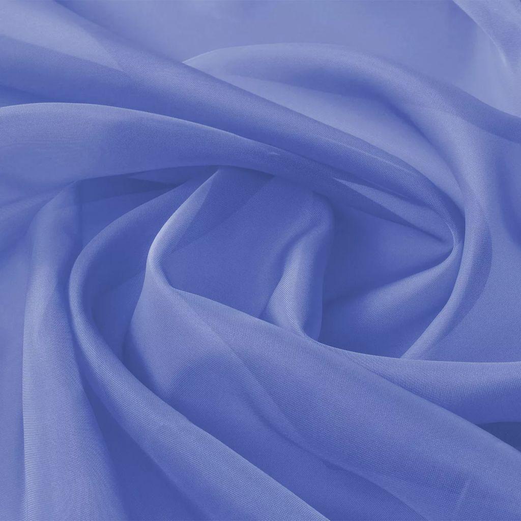 Tissu Voile 1.45x20 m Bleu Royal