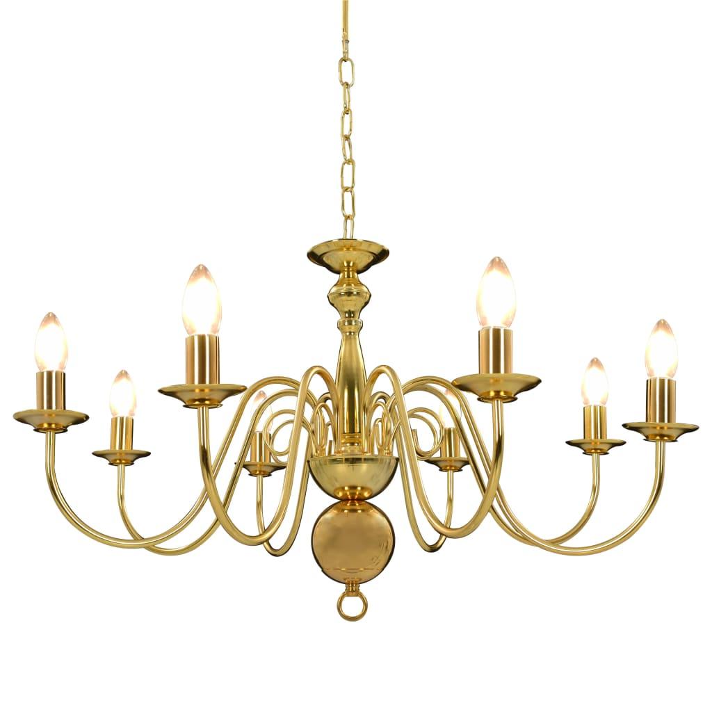Chandelier Golden 8 x E14 Bulbs