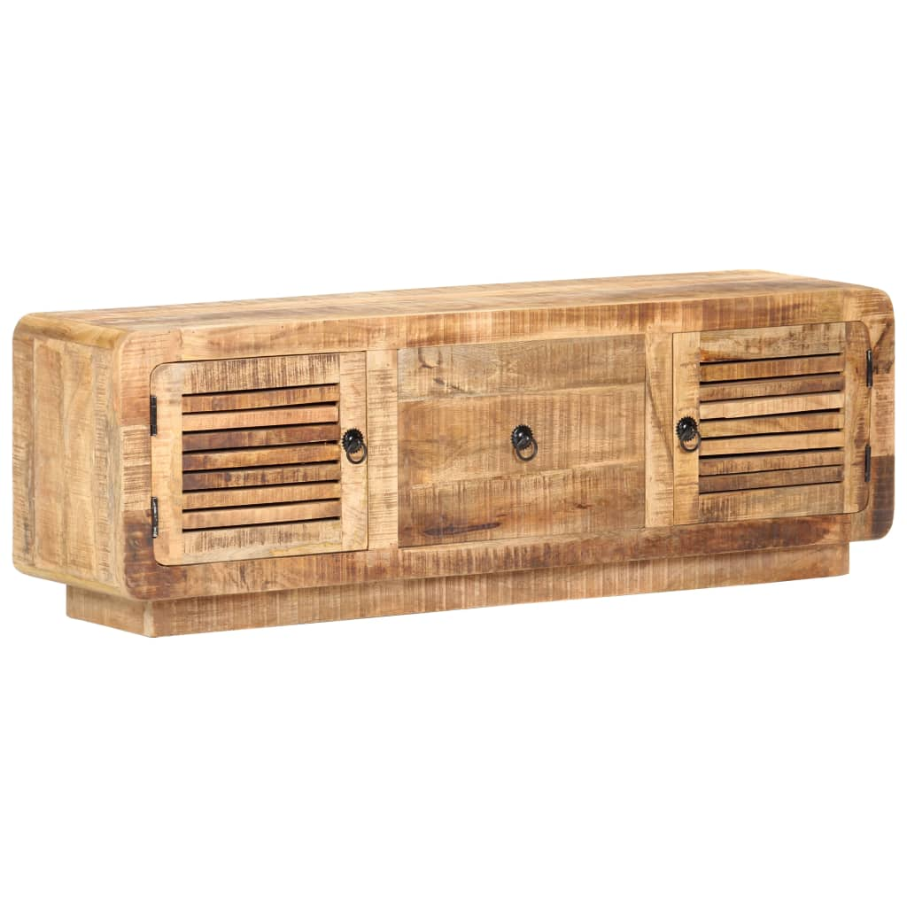 TV Cabinet 120x30x40 cm Rough Mango Wood  - buy with discount