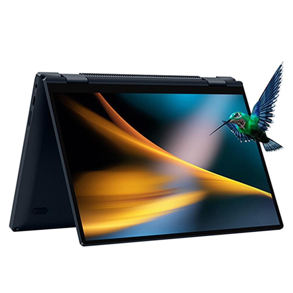 Один нетбук 4 Ноутбук 360 градусов YOGA 10.1-дюймовый сенсорный экран Intel Core i11-5G1130 7-го поколения 8 ГБ ОЗУ DDR4 256 ГБ PCI-E SSD WiFi 6 Отпечаток пальца Windows 10 - черный