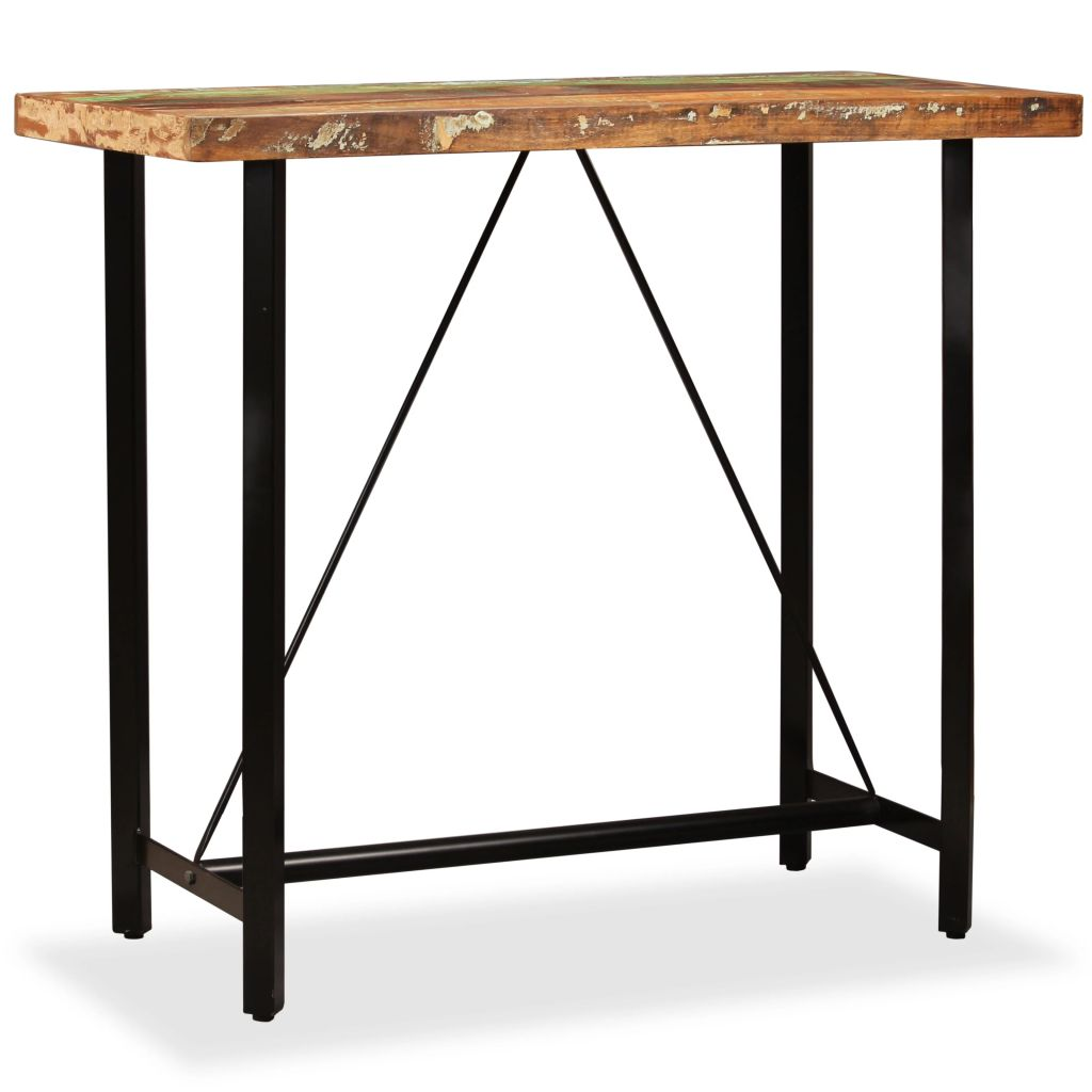 Bar Table Solid Reclaimed Wood 120x60x107 cm  - buy with discount