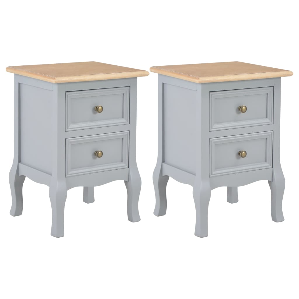 Bedside Cabinets Grey 35x30x49 cm MDF  - buy with discount