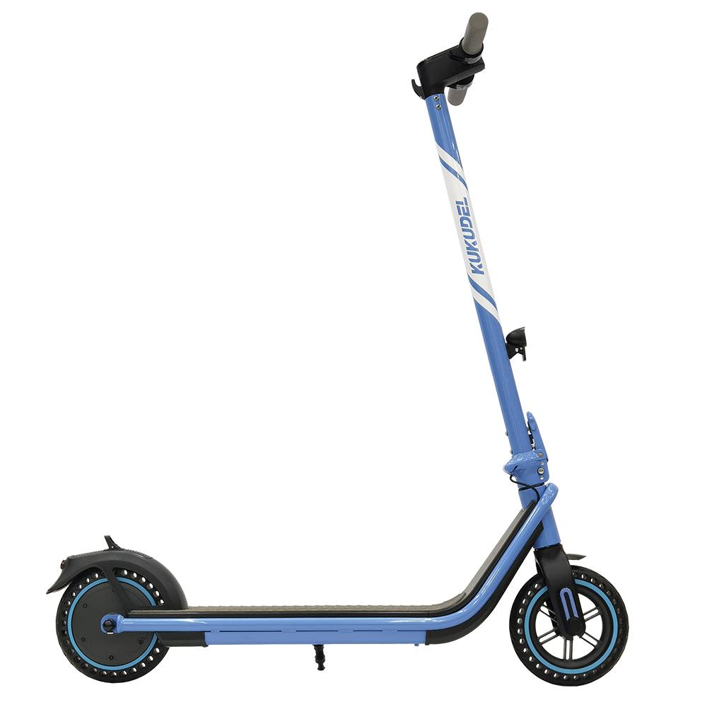 KUKUDEL 858 8.5 hüvelykes, inflációmentes gumiabroncs elektromos összecsukható robogó 7.5Ah akkumulátor 250W motor maximális sebesség 25 km / h nulla indítás - kék