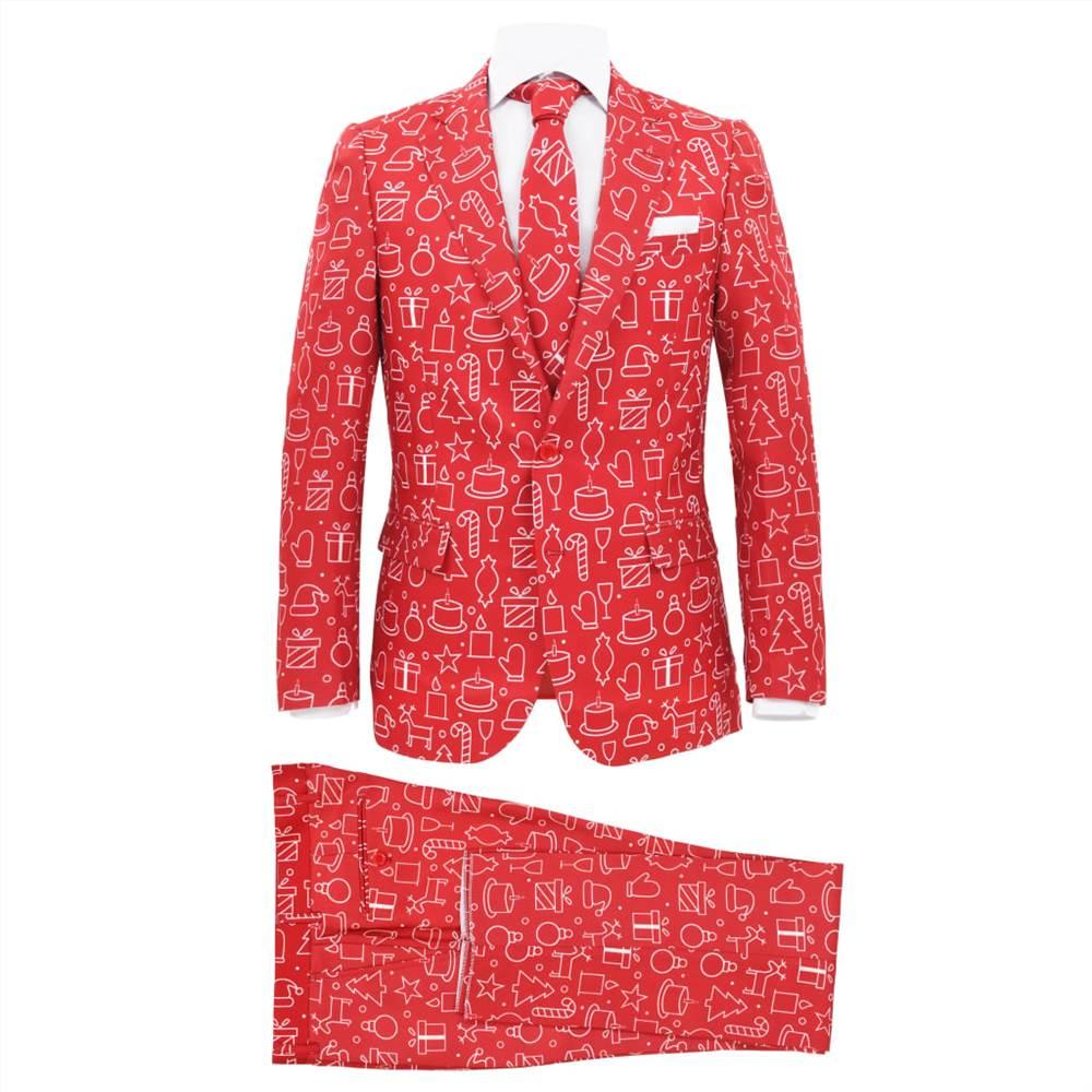 Costume de Noël pour homme 2 pièces avec cravate taille 52 cadeaux rouge