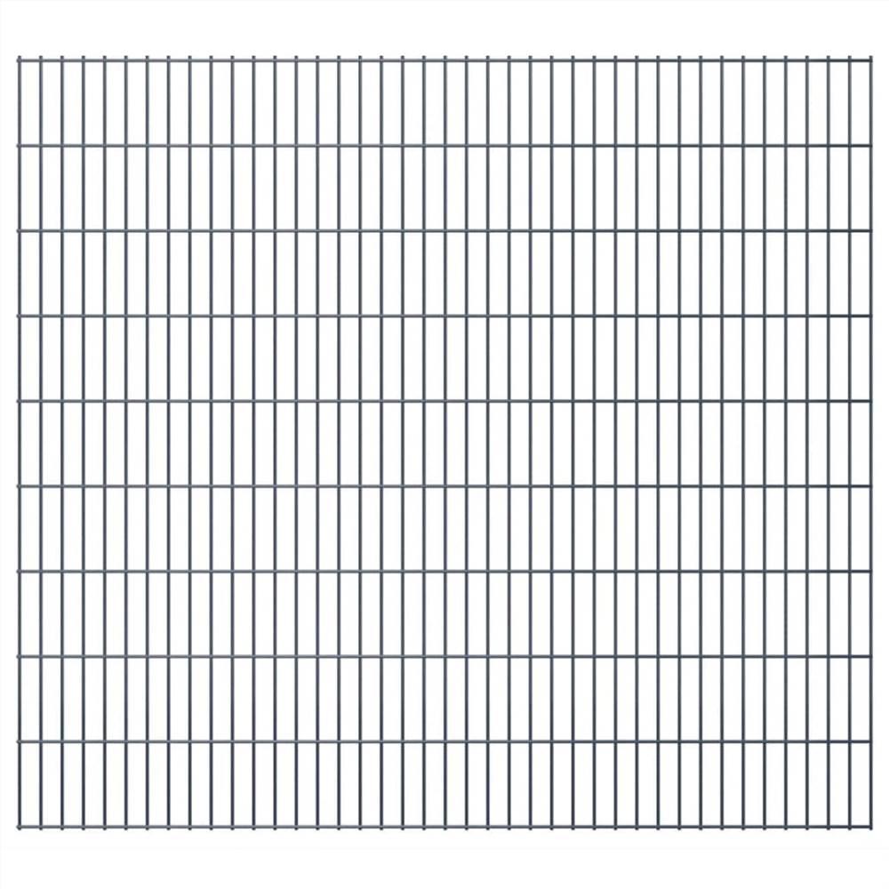 2D Garden Fence Panel 2.008x1.83 m  Grey