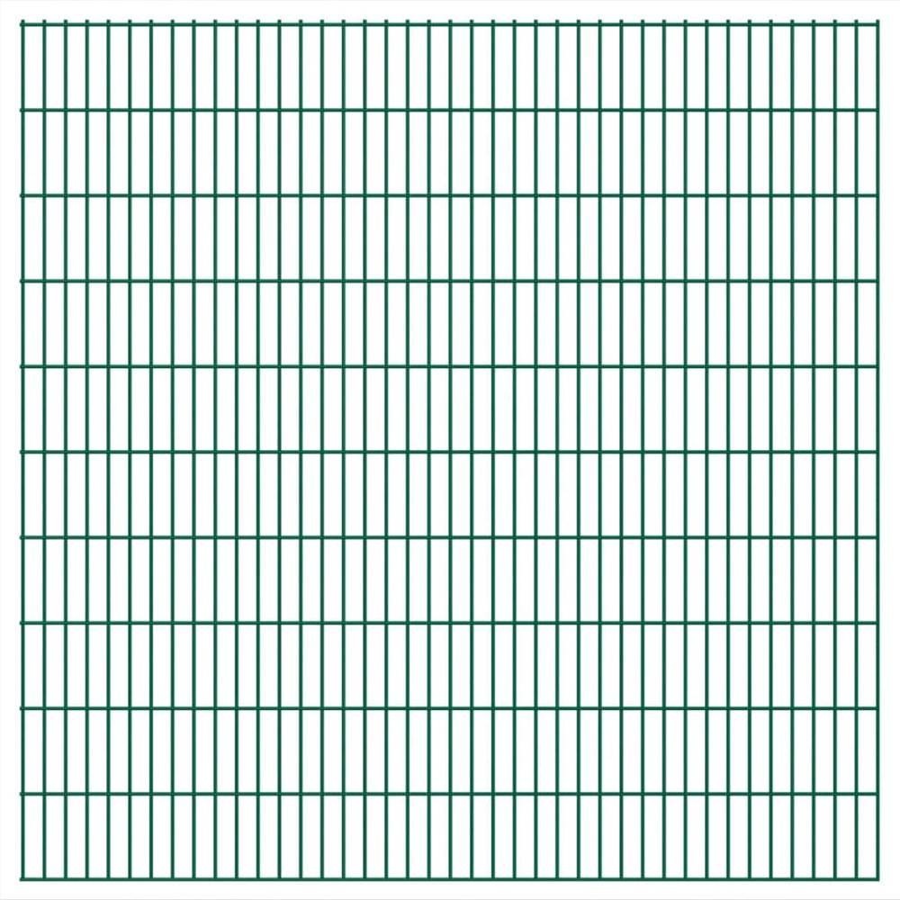 2D Garden Fence Panel 2.008x2.03 m  Green
