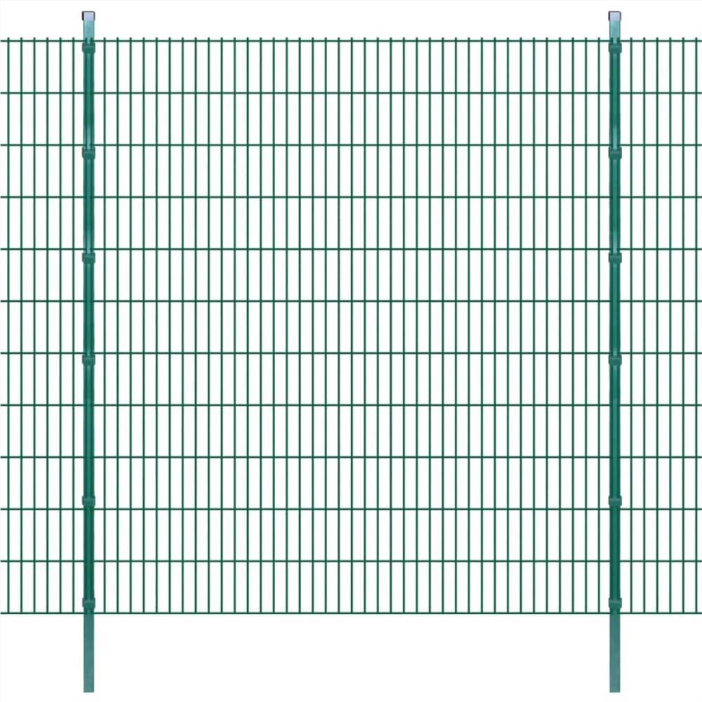 2D Gartenzaun Paneele & Pfosten 2008x2230 mm 50 m Grün