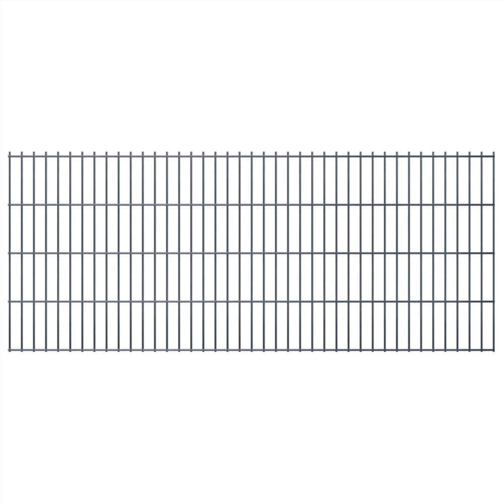 2D Garden Fence Panels 2.008x0.83 m 24 m (Total Length) Grey