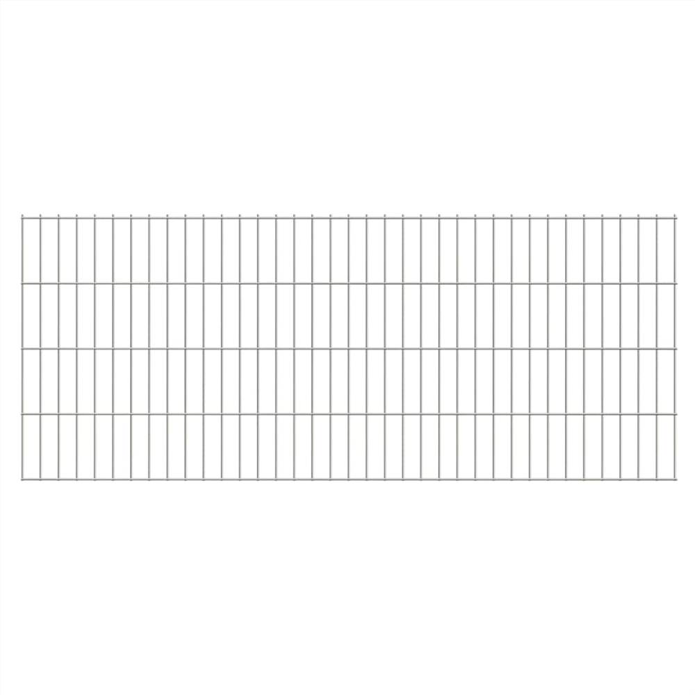 2D Gartenzaunplatten 2.008x0.83 m 44 m (Gesamtlänge) Silber