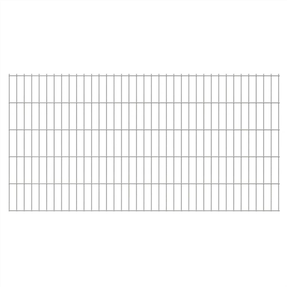 2D Garden Fence Panels 2.008x1.03 m 18 m (Total Length) Silver