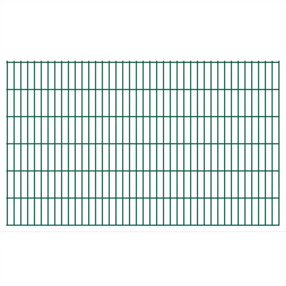 2D Garden Fence Panels 2.008x1.23 m 38 m (Total Length) Green
