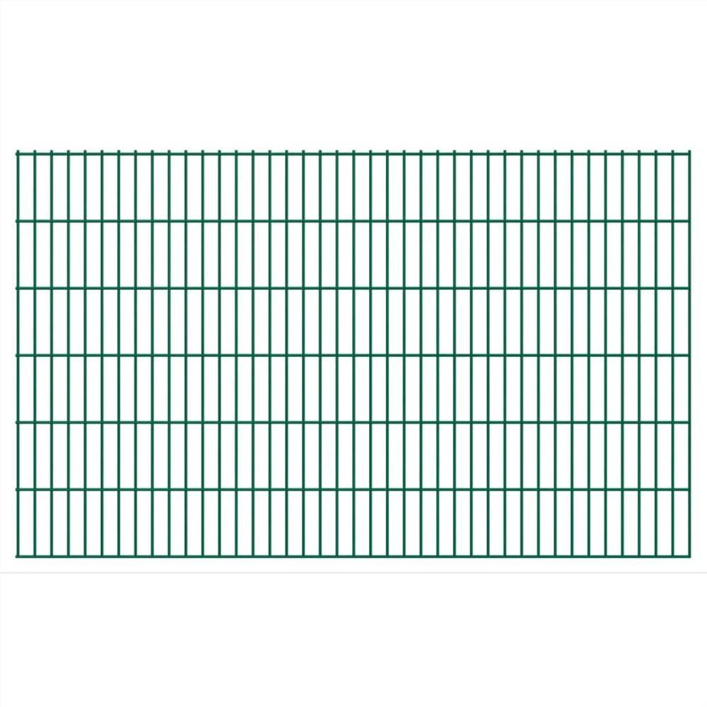 2D Garden Fence Panels 2.008x1.23 m 42 m (Total Length) Green