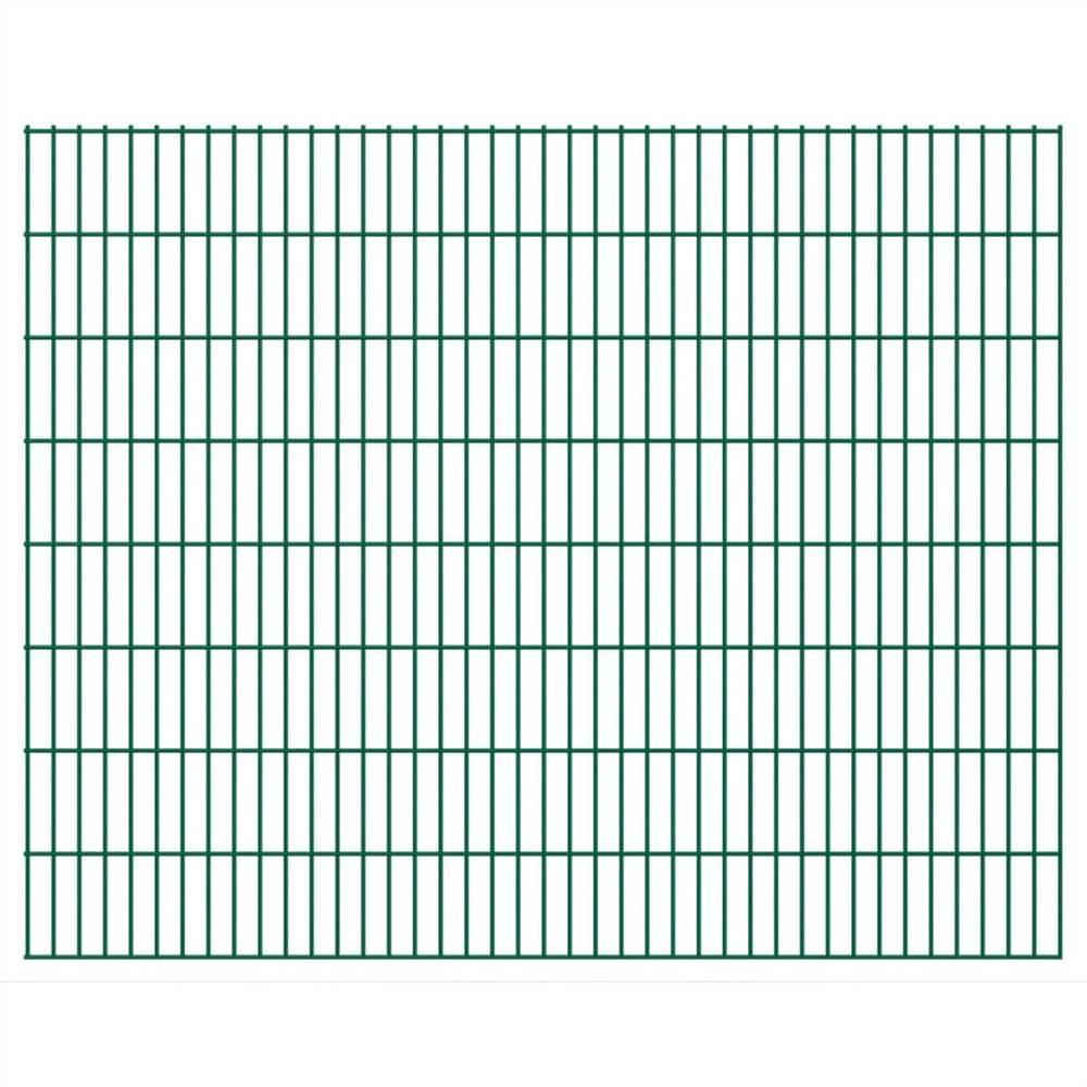 2D Garden Fence Panels 2.008x1.63 m 42 m (Total Length) Green
