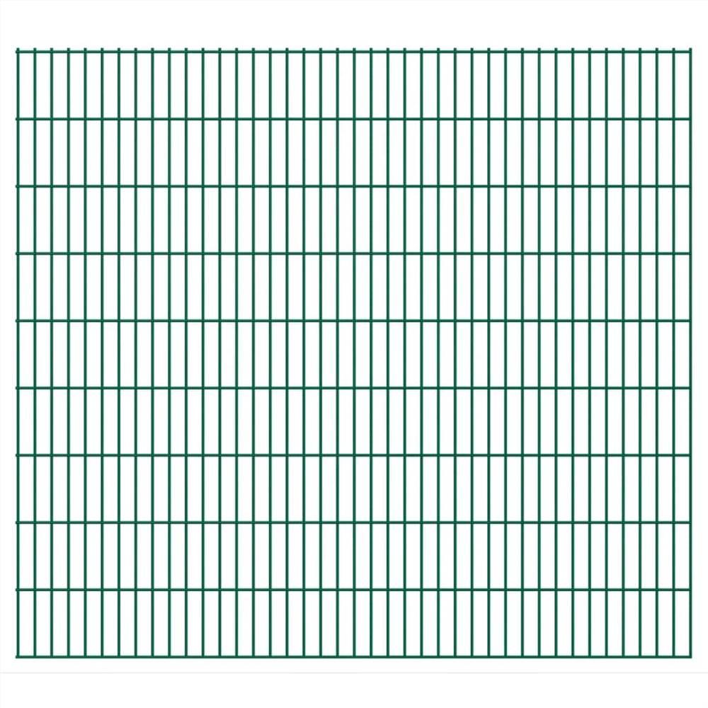 2D Garden Fence Panels 2.008x1.83 m 28 m (Total Length) Green