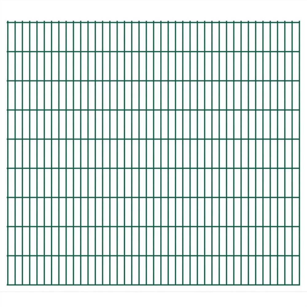 2D Garden Fence Panels 2.008x1.83 m 40 m (Total Length) Green