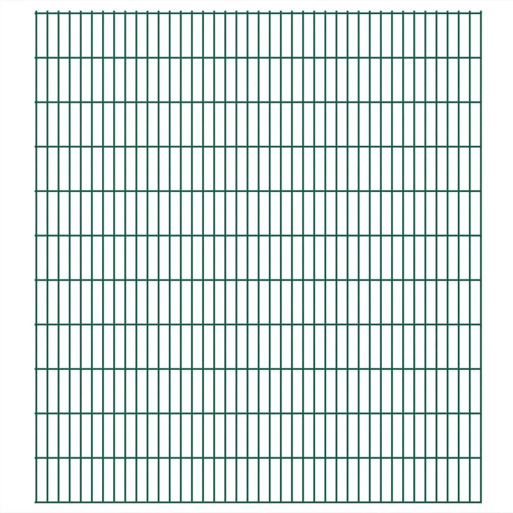 Pannelli per recinzione da giardino 2D 2,008x2,23 m 24 m (lunghezza totale) Verde