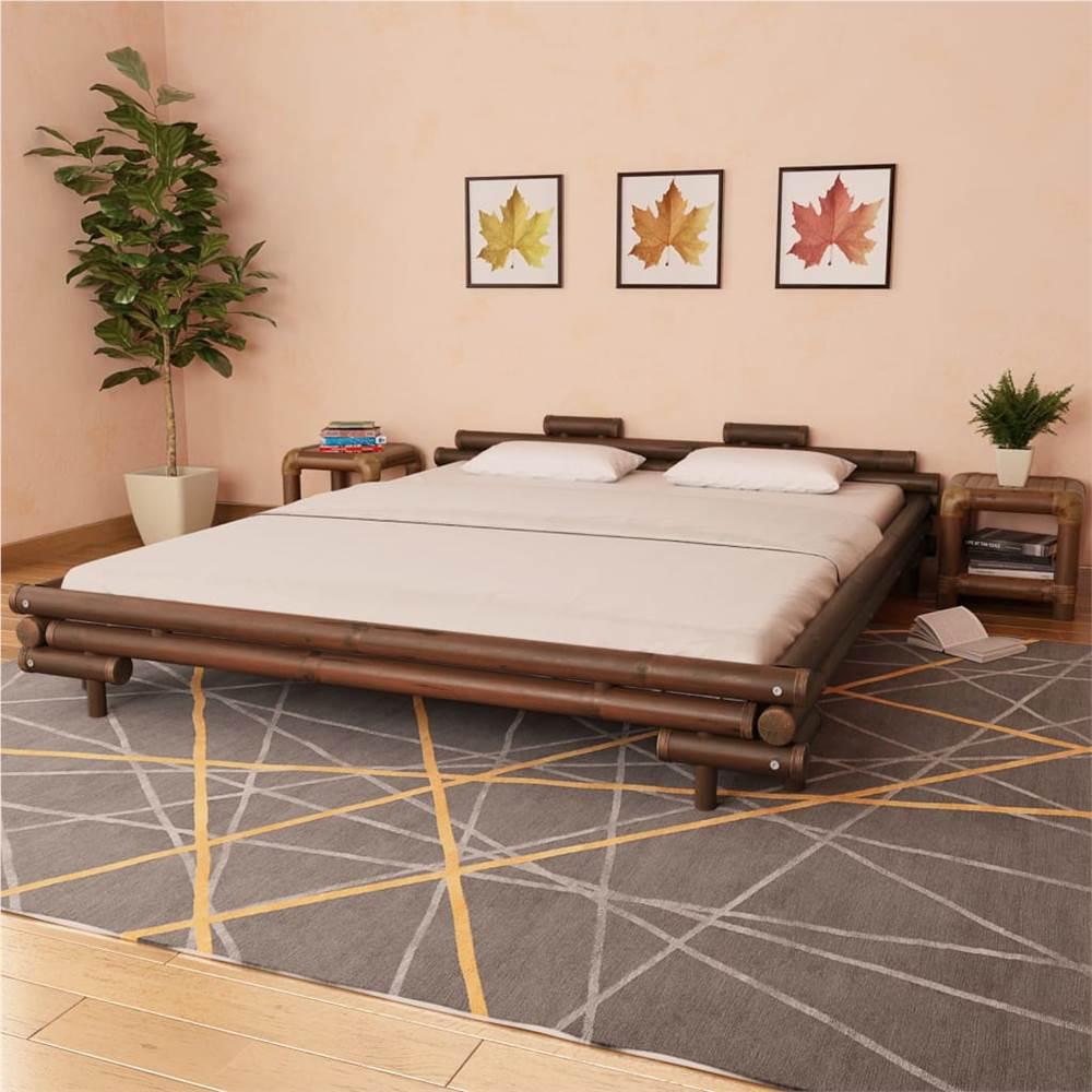 Cadre de lit Bambou marron foncé 180x200 cm 6FT Super King