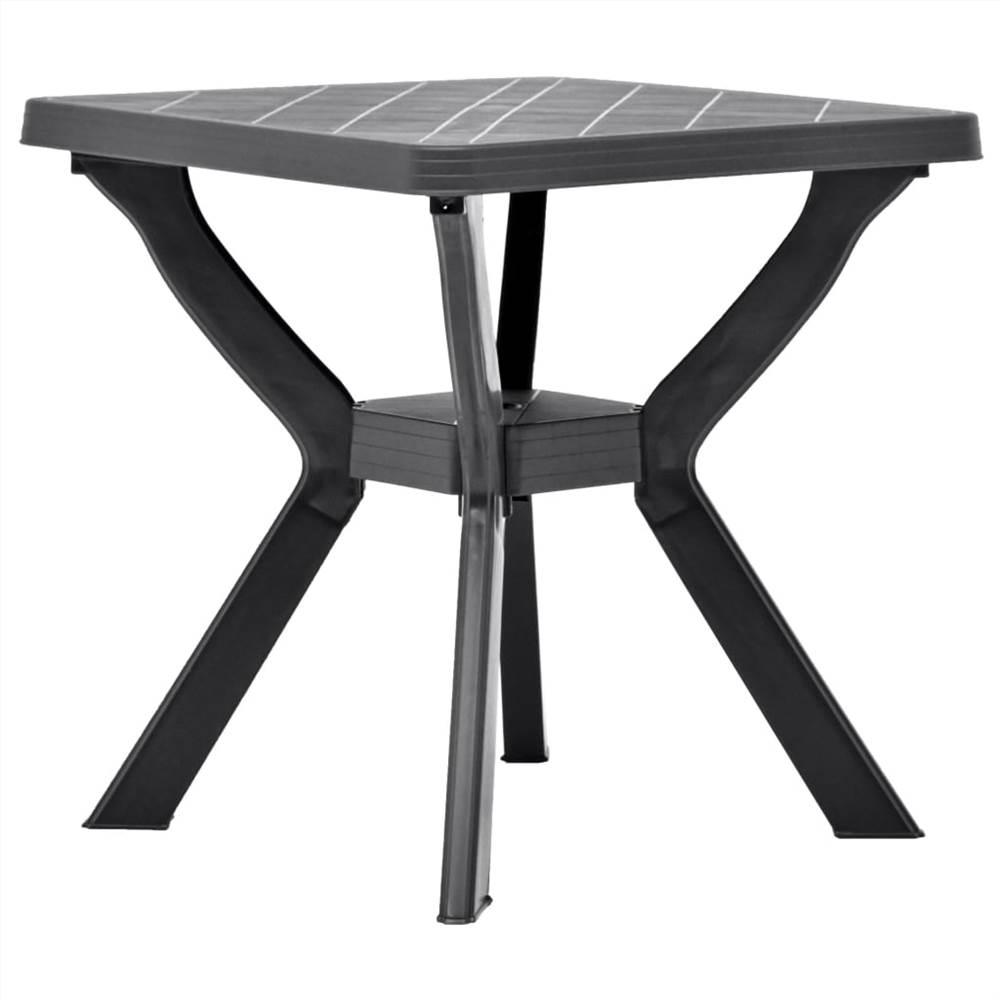 Bistro Table Anthracite 70x70x72 cm Plastic