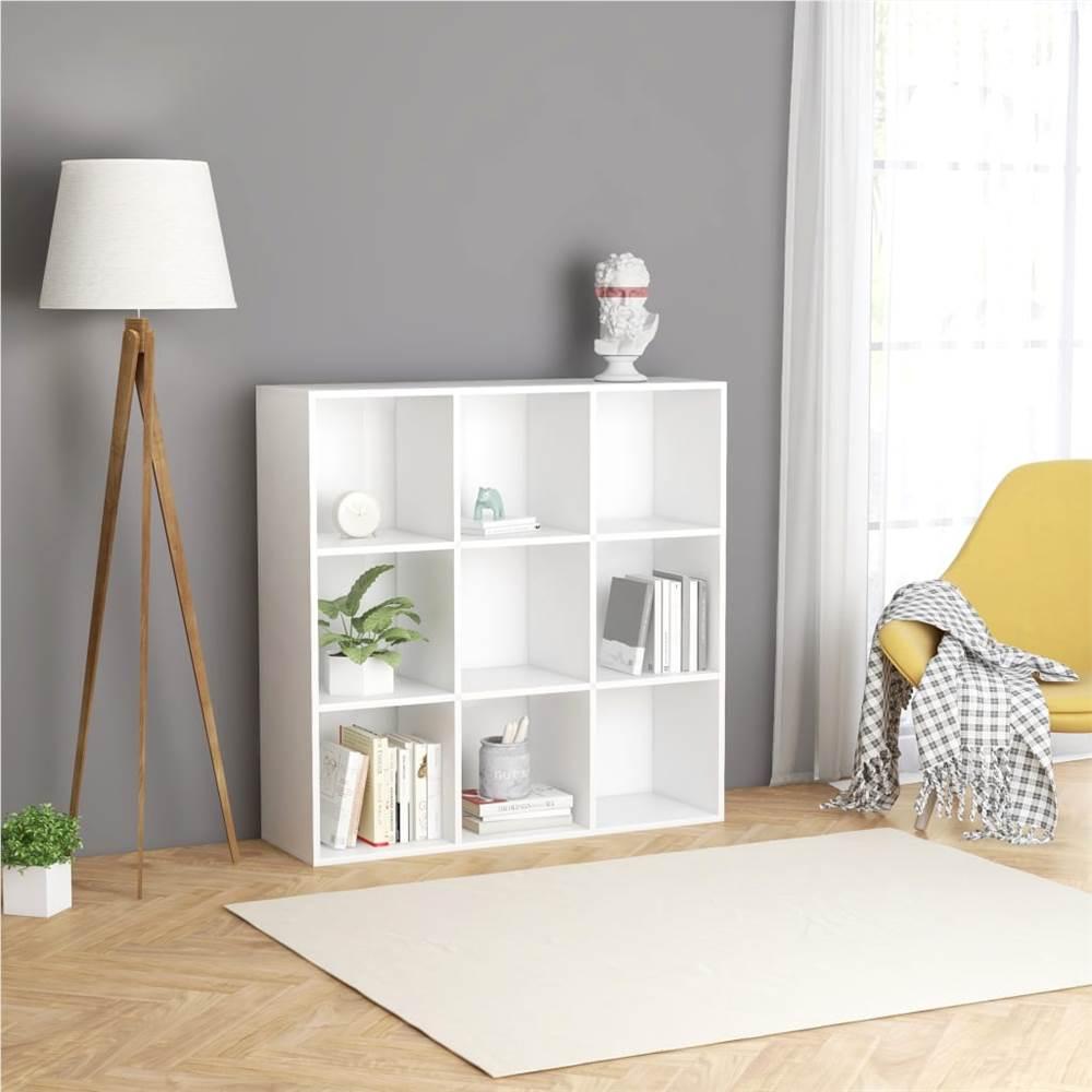 Book Cabinet White 98x30x98 cm Chipboard