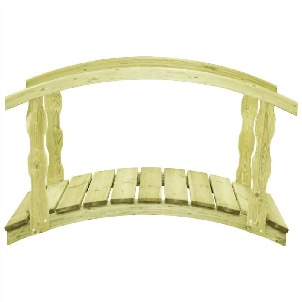 Pont de jardin avec rail 170x74x105 cm Pin imprégné