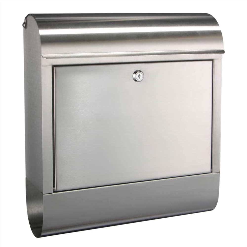 Caixa de correio HI em aço inoxidável 38x12x42.5 cm