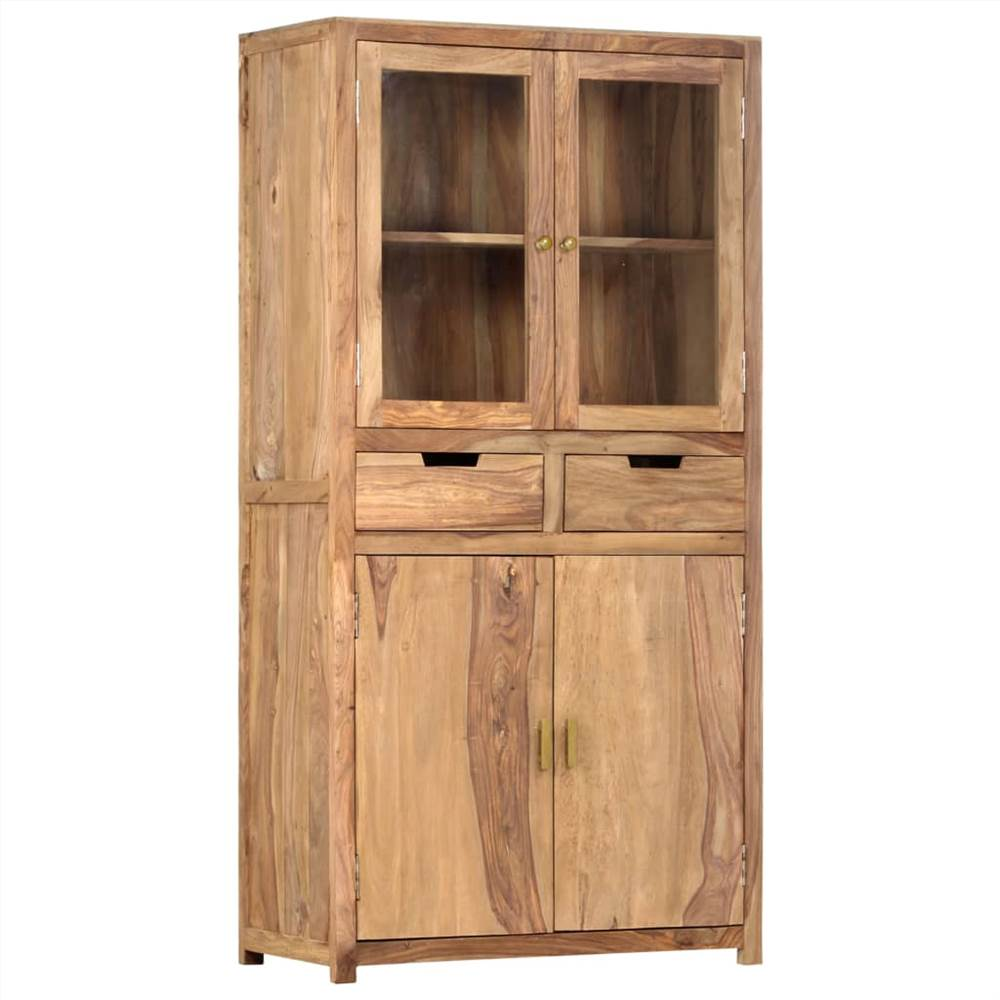 Highboard 88x40x170 cm Sheesham Wood maciço
