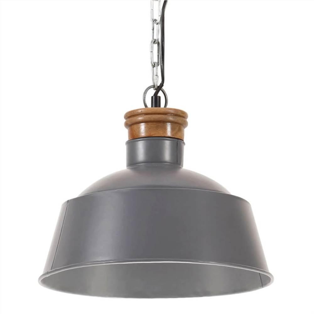Industrial Hanging Lamp 32 cm Grey E27