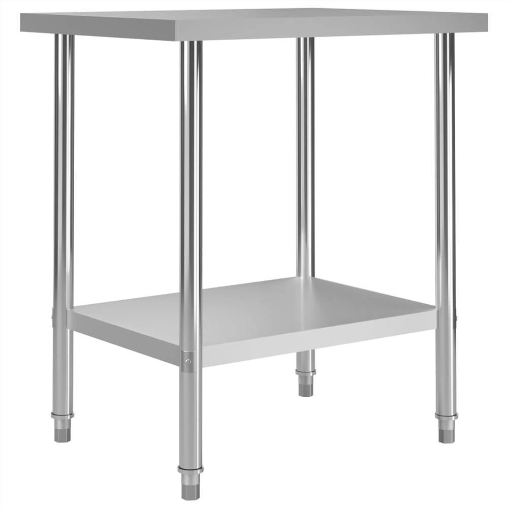 Table de travail de cuisine 80x60x85 cm Inox