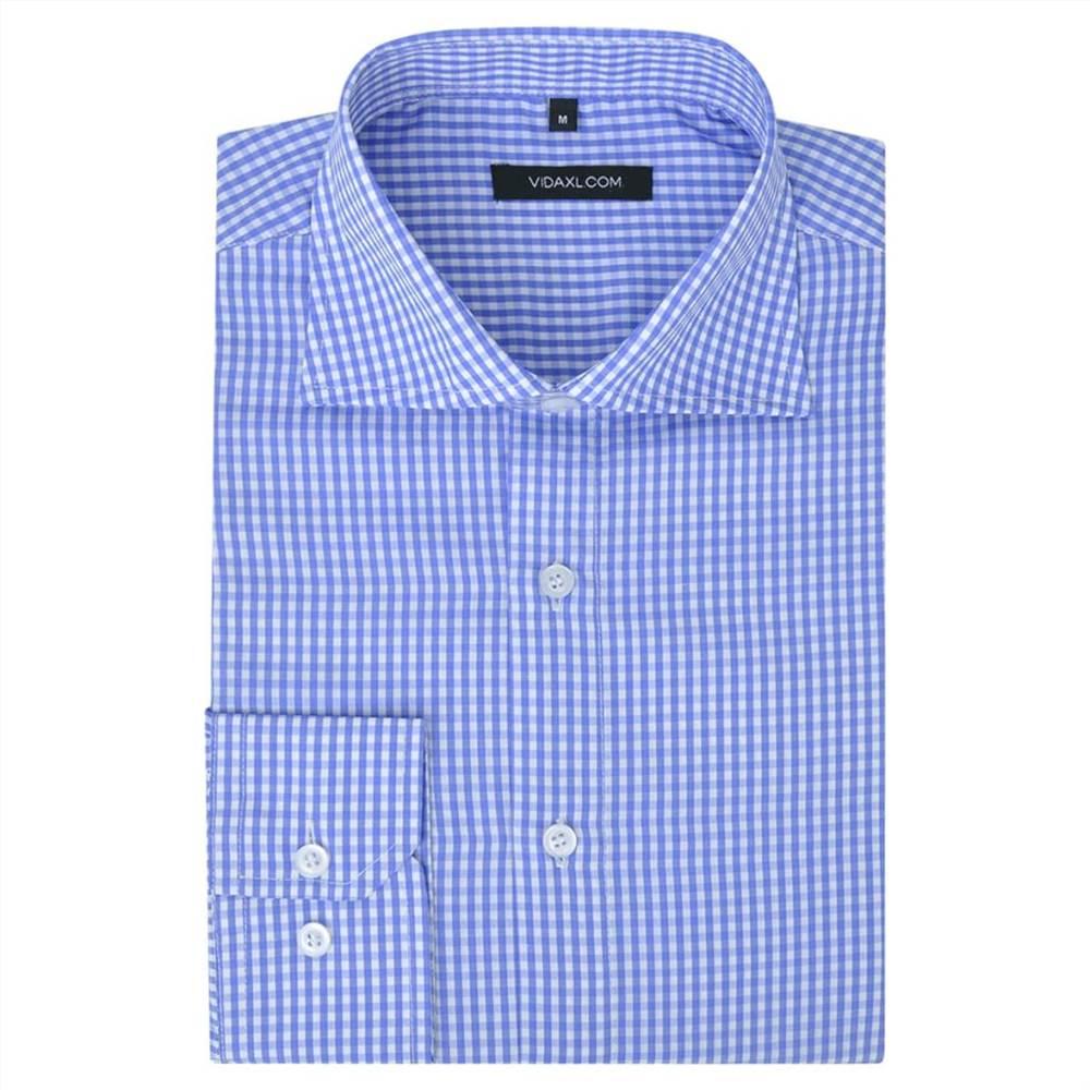 Ανδρικό επαγγελματικό πουκάμισο Λευκό και Ανοιχτό Μπλε Επιλέξτε Μέγεθος S
