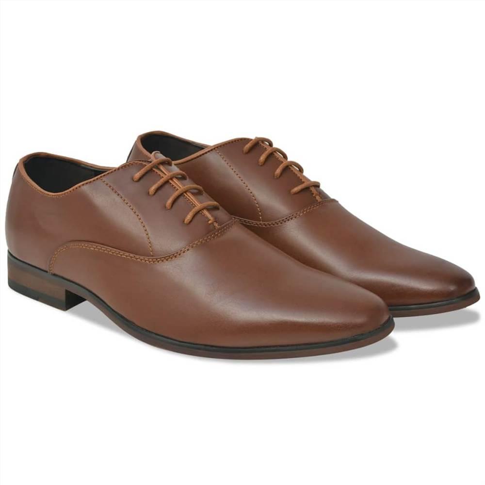Ανδρικά επαγγελματικά παπούτσια Lace-Up καφέ μέγεθος 8.5 PU δέρμα