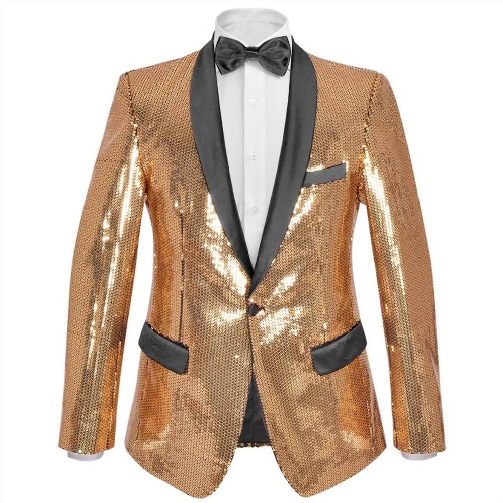 Ανδρικό σακάκι δείπνο με πούλιες Tuxedo Blazer Gold Size 54