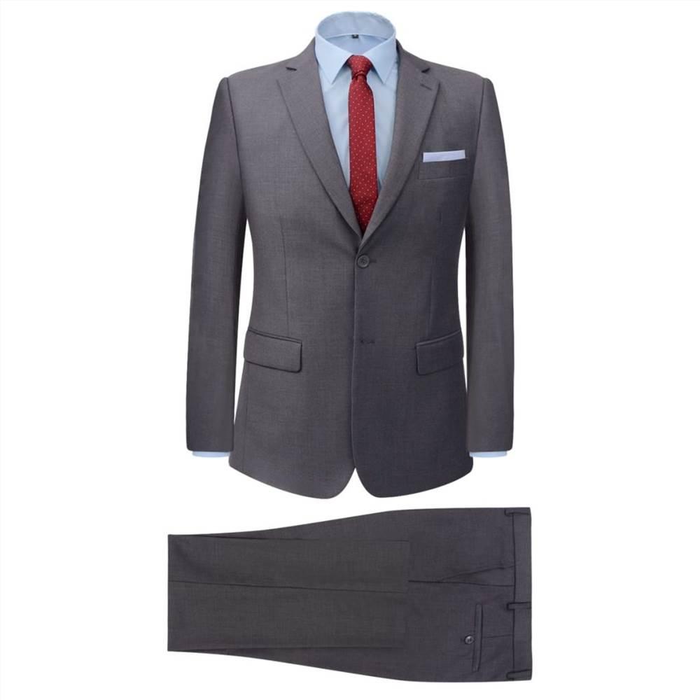 Ανδρικό κοστούμι δύο τεμαχίων Γκρι μέγεθος 50