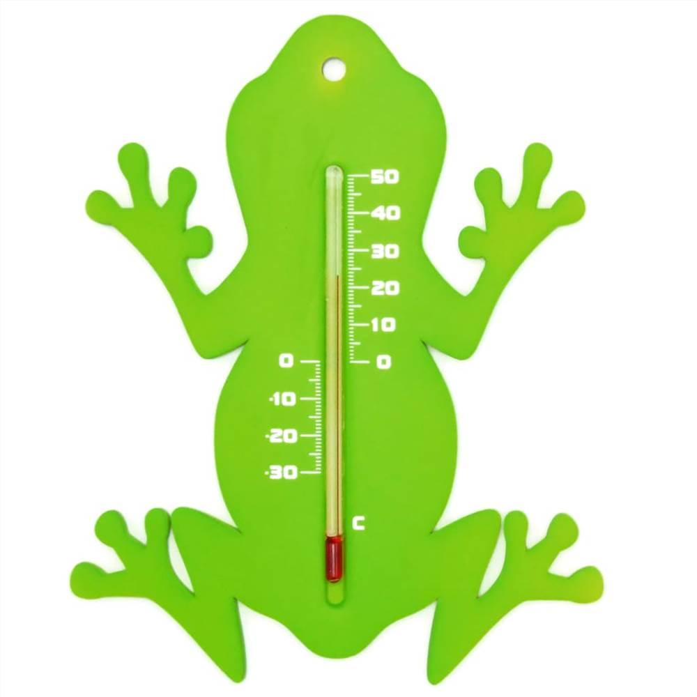 Природа Уличный настенный термометр Frog Green