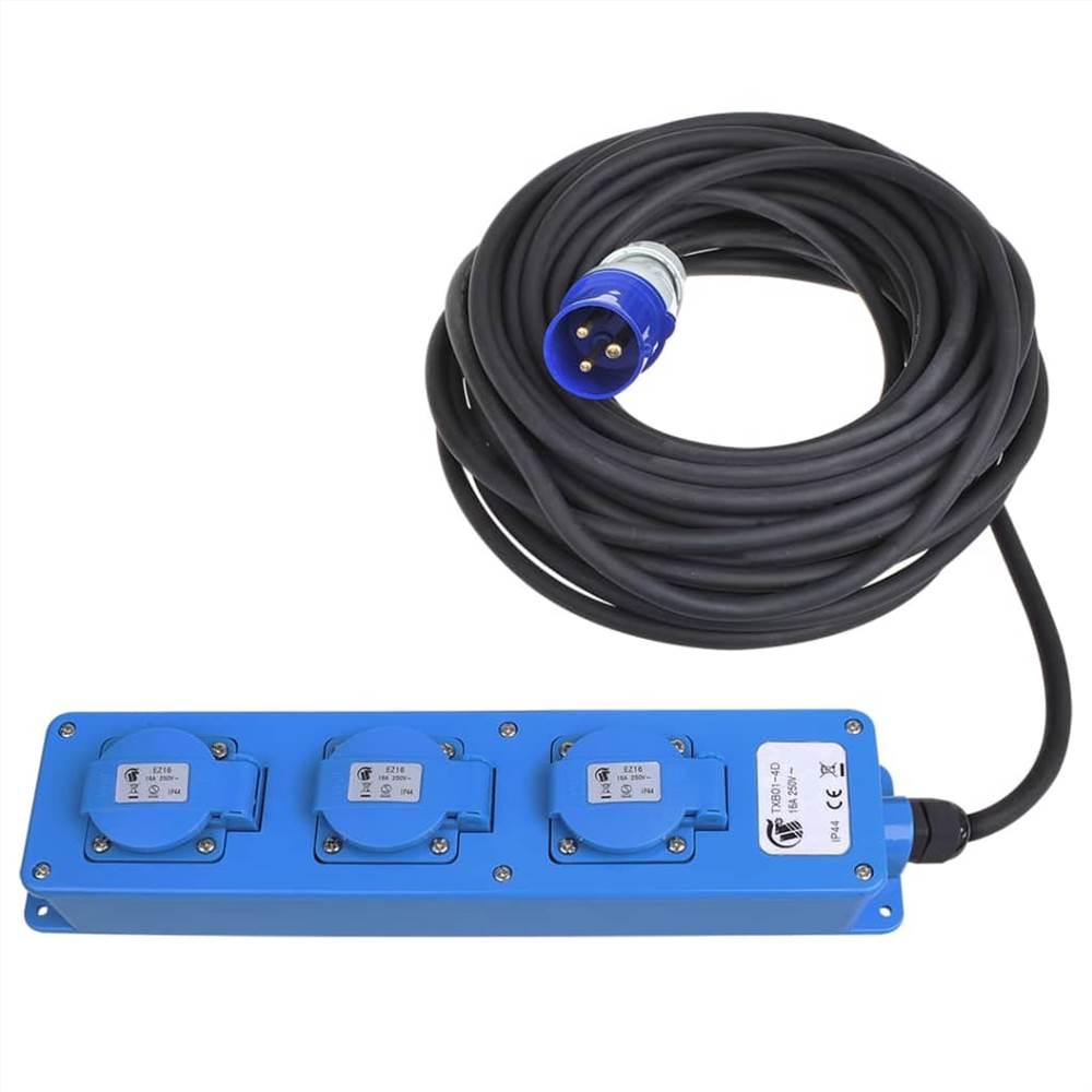 ProPlus 3-yollu Schuko Priz Çıkışı 20m 2 USB