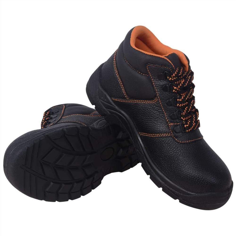 Παπούτσια ασφαλείας Μαύρο μέγεθος 7.5 Δέρμα