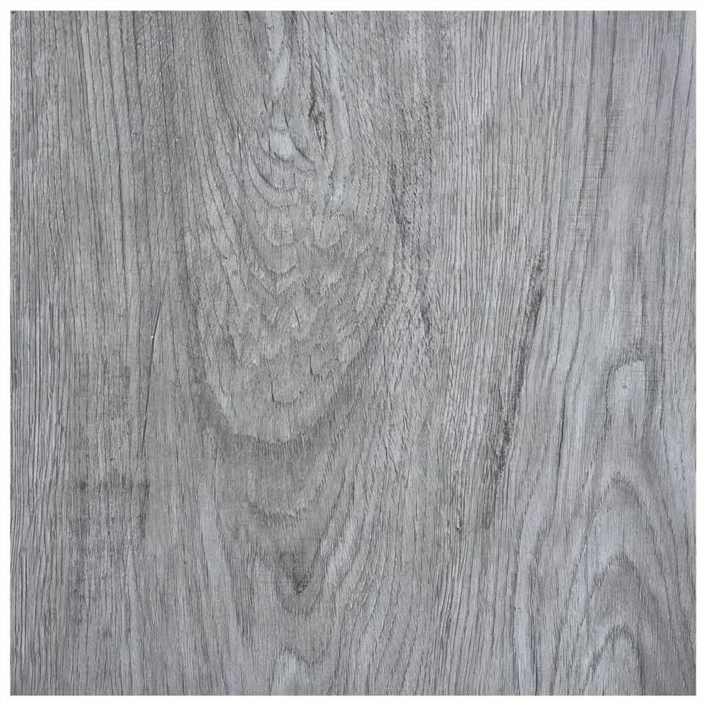Self-adhesive Flooring Planks 5.11 m² PVC Light Grey