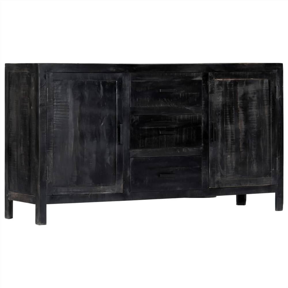 Buffet noir 147x40x80 cm en manguier massif