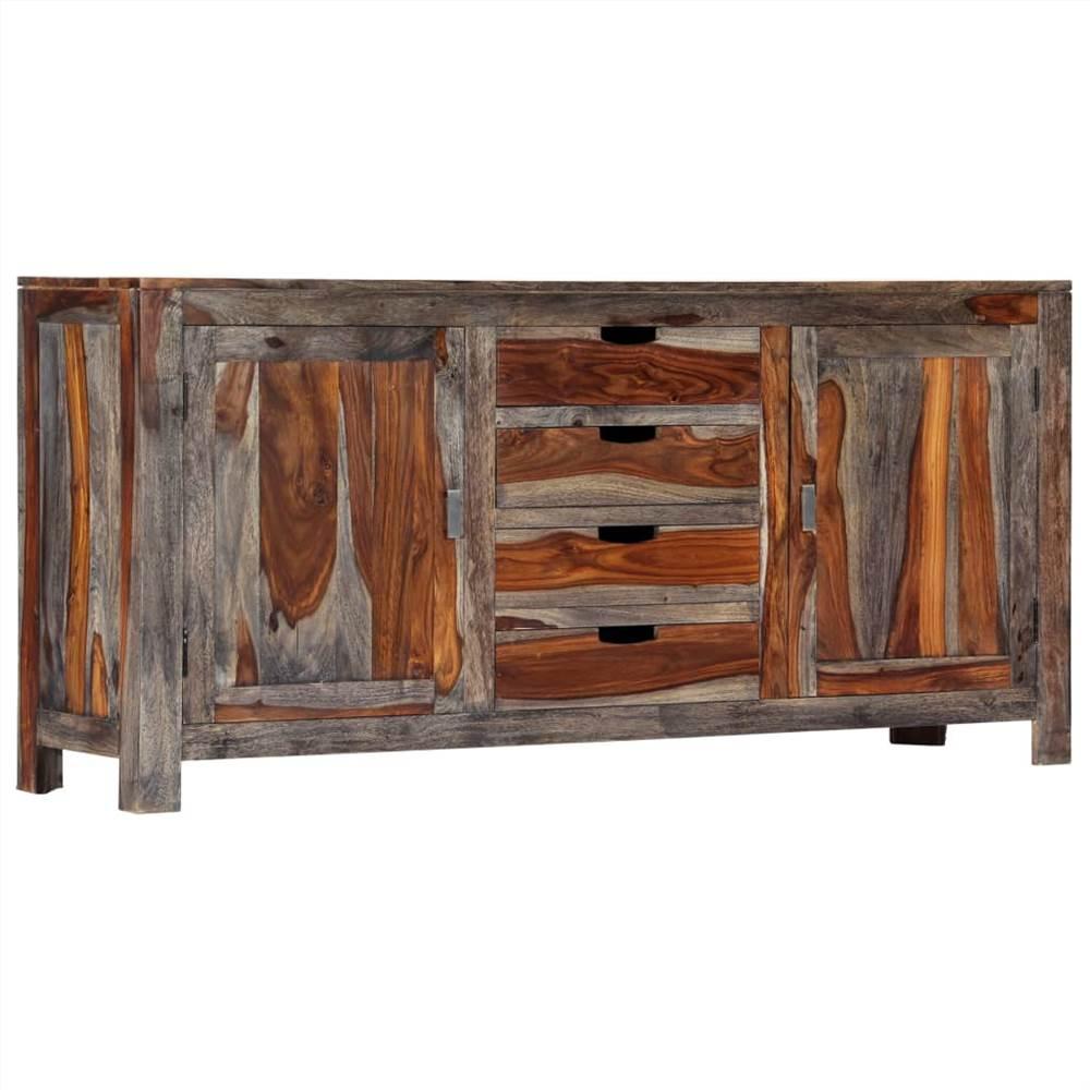 Aparador Cinza 160x40x75 cm Sheesham Wood maciço