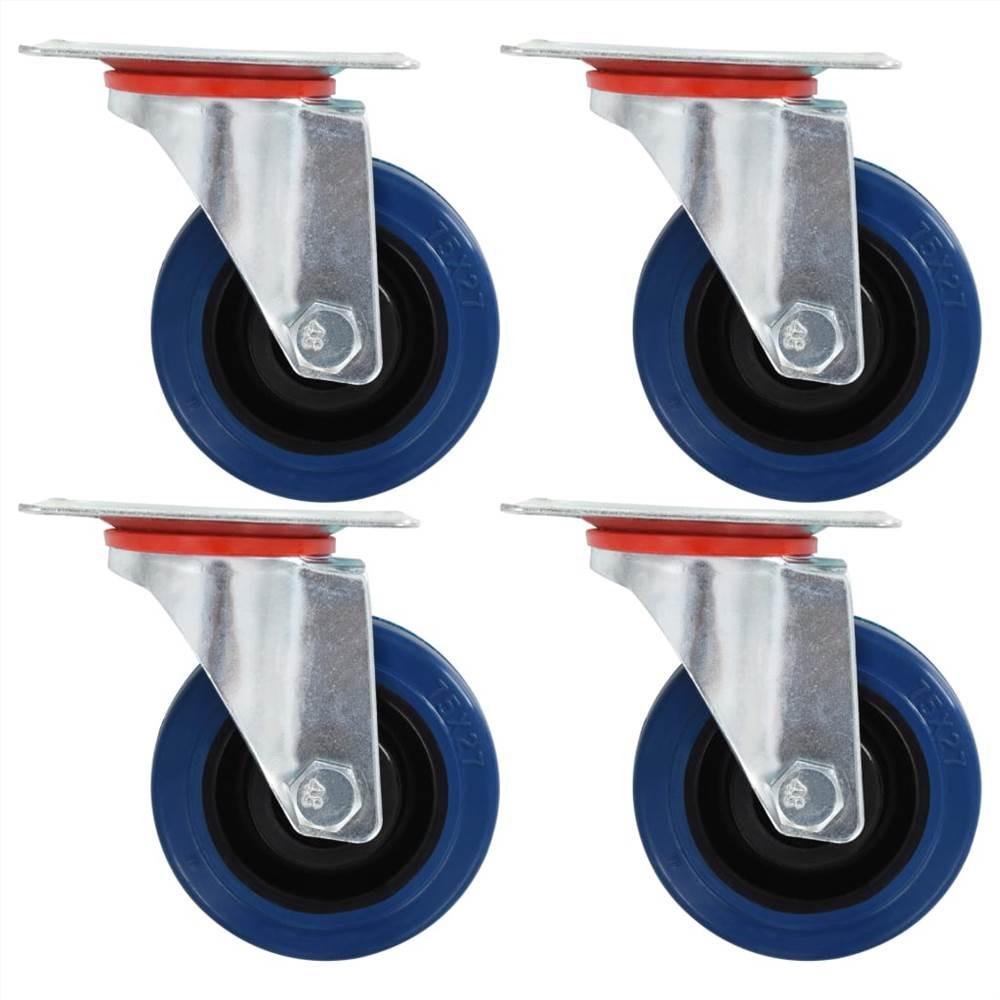 Roulettes pivotantes 4 pcs 75 mm