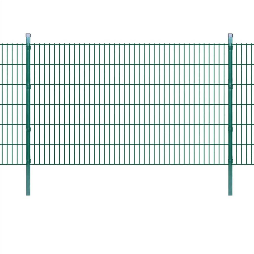 2D Garden Fence Panel & Posts 2008x1230 mm 2 m Green