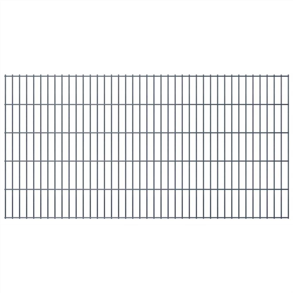 2D Garden Fence Panel 2.008x1.03 m  Grey
