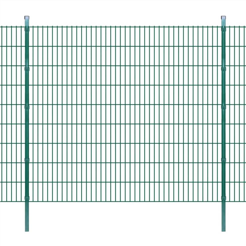 2D Garden Fence Panels & Posts 2008x1830 mm 8 m Green