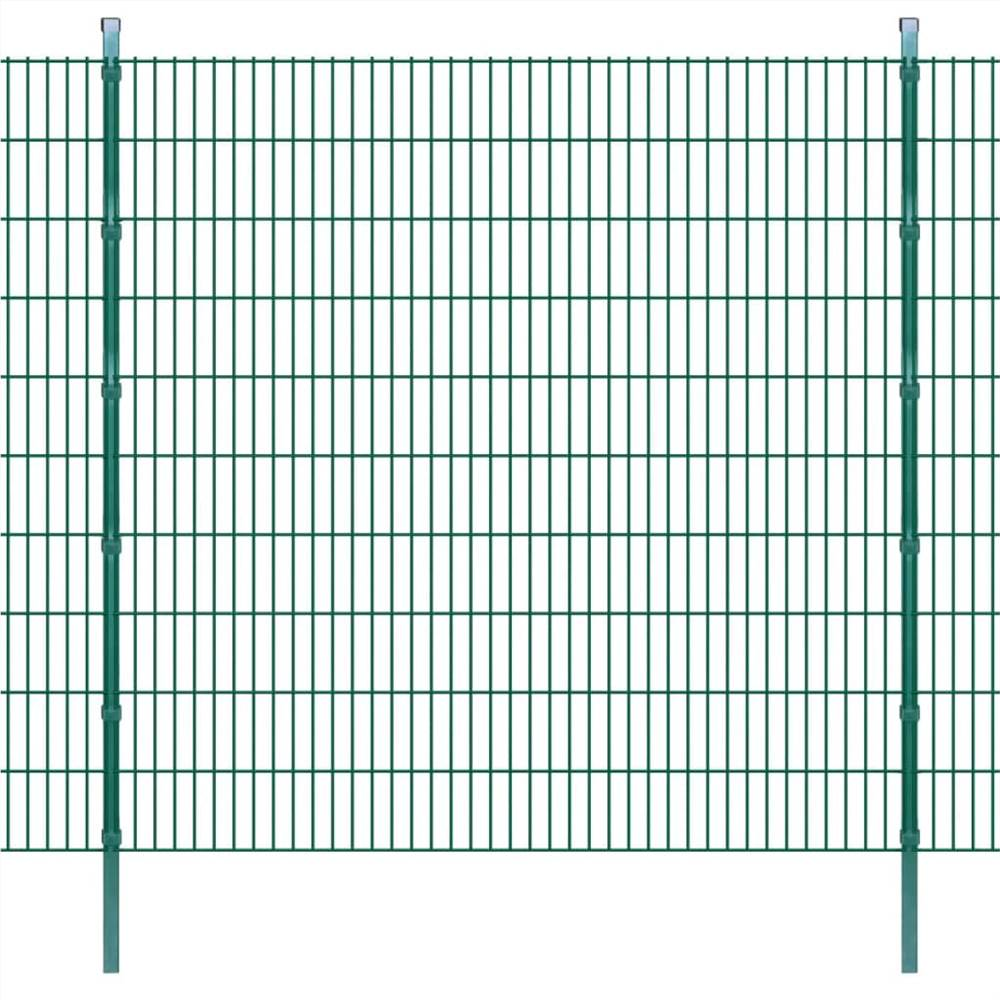 2D Garden Fence Panels & Posts 2008x2030 mm 22 m Green