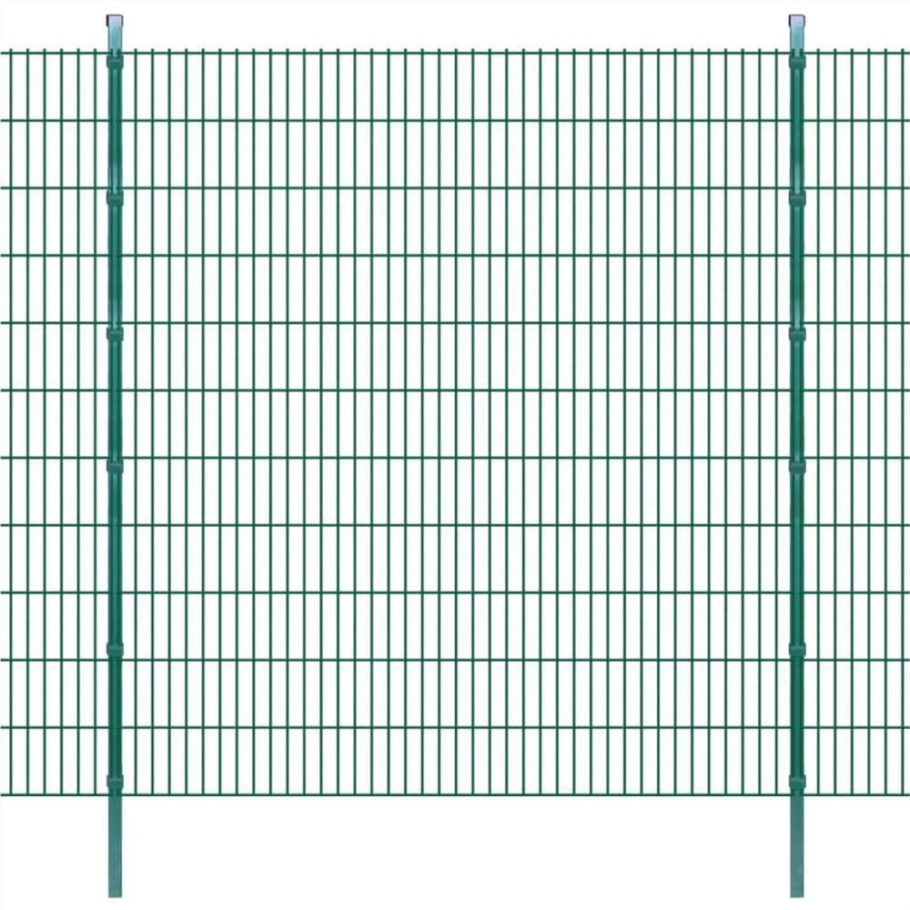 2D Garden Fence Panels & Posts 2008x2230 mm 26 m Green