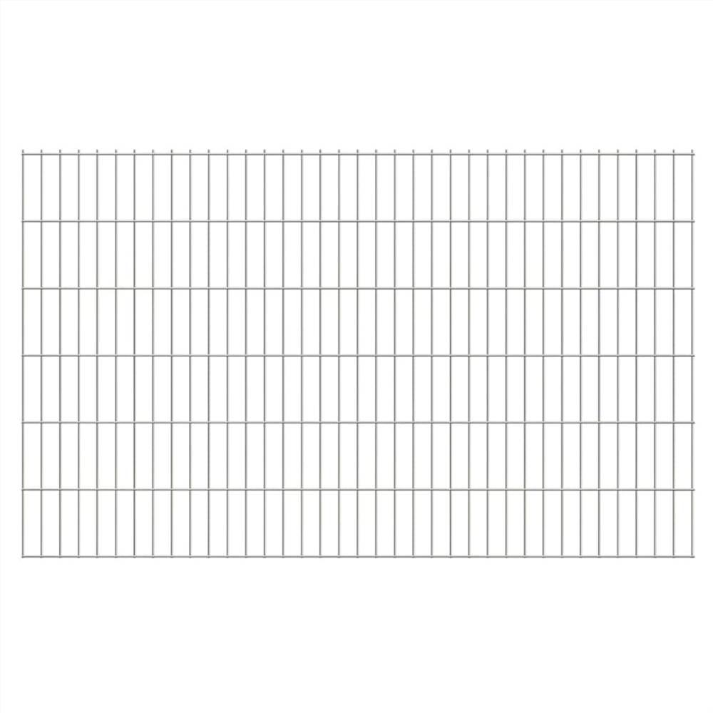 2D Garden Fence Panels 2.008x1.23 m 22 m (Total Length) Silver