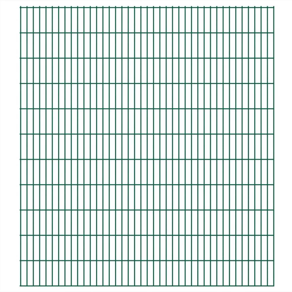 2D Garden Fence Panels 2.008x2.23 m 20 m (Total Length) Green